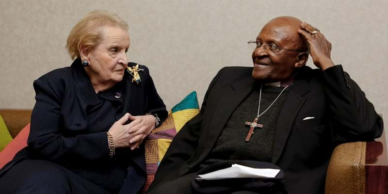 Madeline K. Albright & Archbishop Desmond Tutu. 2011. Photo Credit: Martin Dixon. (c) Ford Foundation