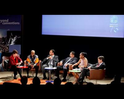 Human Rights and the Pursuit of Economic and Social Inclusion with moderator Lyse Doucet. 2011. This image is not available under 4.0 Creative Commons license.
