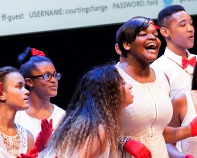 Gospel for Teens Choir special performance. 2013. This image is not available under the 4.0 Creative Commons license.