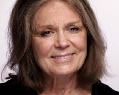 Gloria Steinem on being awarded the Presidential Medal of Freedom. 2013. This image is not available under the 4.0 Creative Commons license.