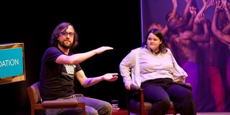 Q & A with Amanda Cox and Jer Thorp. 2012. This image is not available under 4.0 Creative Commons license.