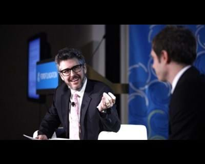 Panelists Damian Kulash and Ira Glass. 2011. This image is not available under the 4.0 Creative Commons license.
