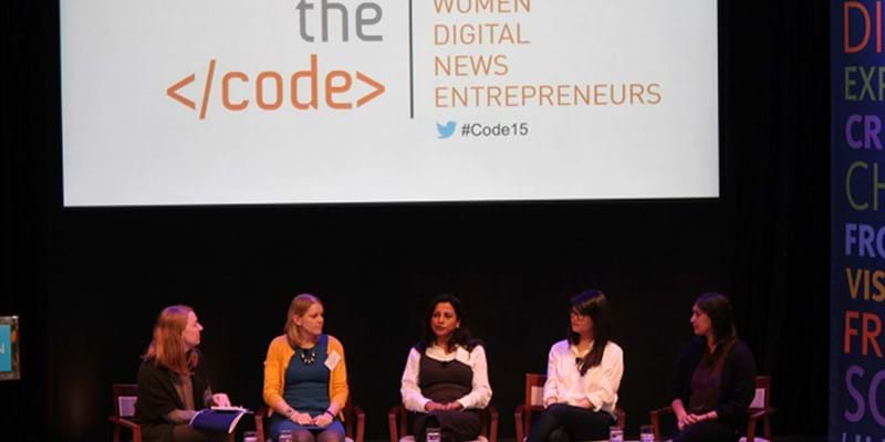 Panel presentation at Cracking the Code event. 2015 (c) Ford Foundation