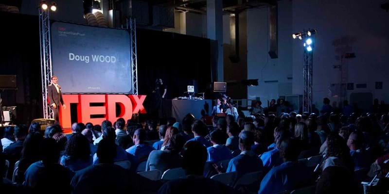 Doug Wood presents at TEDx. 2014, Photo Credit & (c) Van Ditthavong