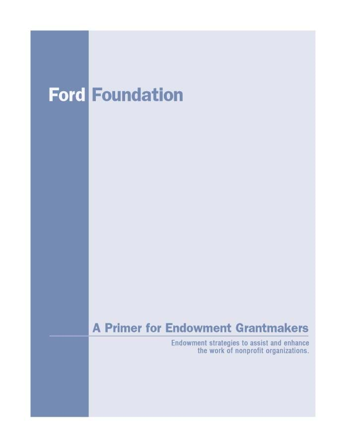 Primer for Endowment Grantmakers
