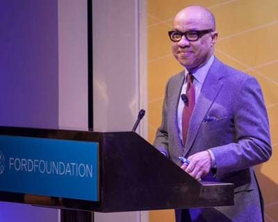 Opening remarks by Ford Foundation President Darren Walker. 2015. This image is not available under 4.0 Creative Commons license.