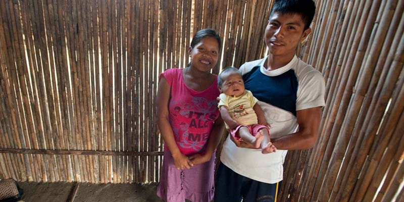 A young family from the Yutupis community in Peru. Photo credit: Sergio Urday