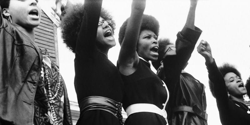 Black Panthers from Sacramento, Free Huey Rally, Bobby Hutton Memorial Park in Oakland, CA, 1969. (Pirkle Jones and Ruth-Marion Bar)