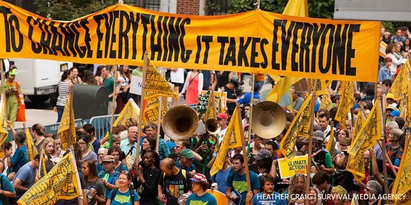 People's Climate March. New York. 2014. Photo credit: Heather Craig/Survival Media Agency