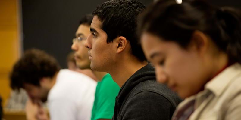 Students listen to lecture at MIT. Cambridge, Massachusetts. 2012. Photo credit: M. Scott Brauer
