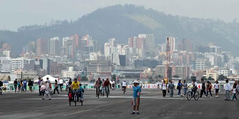 Inauguración del Parque Bicentenario, en el antiguo aeropuerto de Quito. Quito, Ecuador. 2013. Photo credit: Flickr user Luis Astudillo C. / Andes