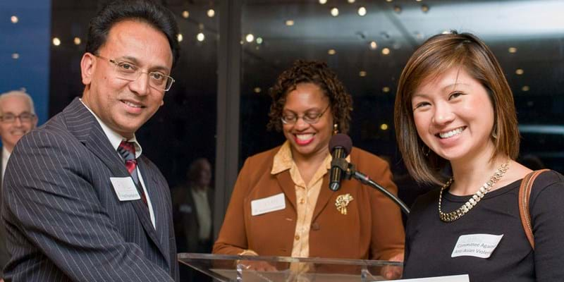 Ford Foundation grant makers meet and celebrate with grantees of the Good Neighbor Committee.
