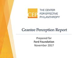 CEP - Grantee Perception Report