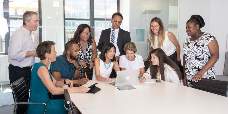 Ford Foundation staff work together to solve complicated problems.