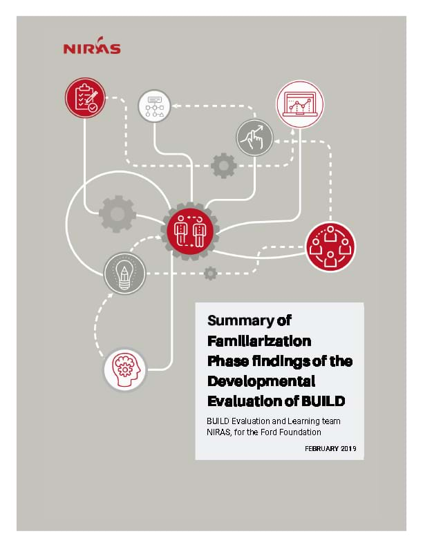 Niras Familiarization Phase findings of the Developmental Evaluation of BUILD - Summary