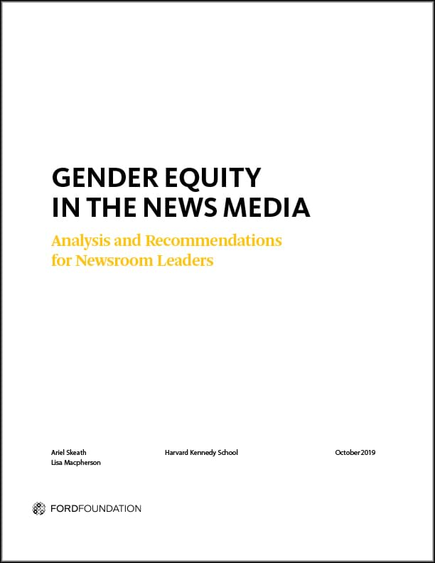 Gender Equity in the News Media report cover