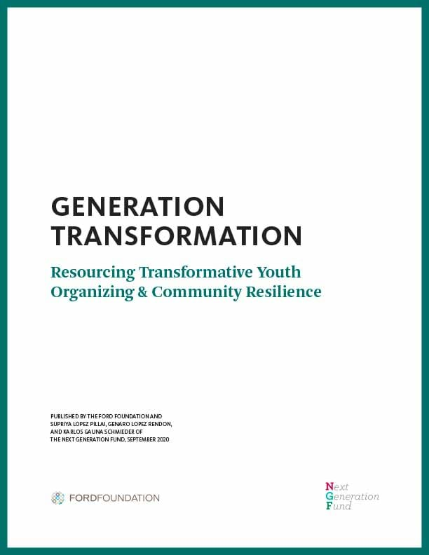 Cover of Generation Transformation report